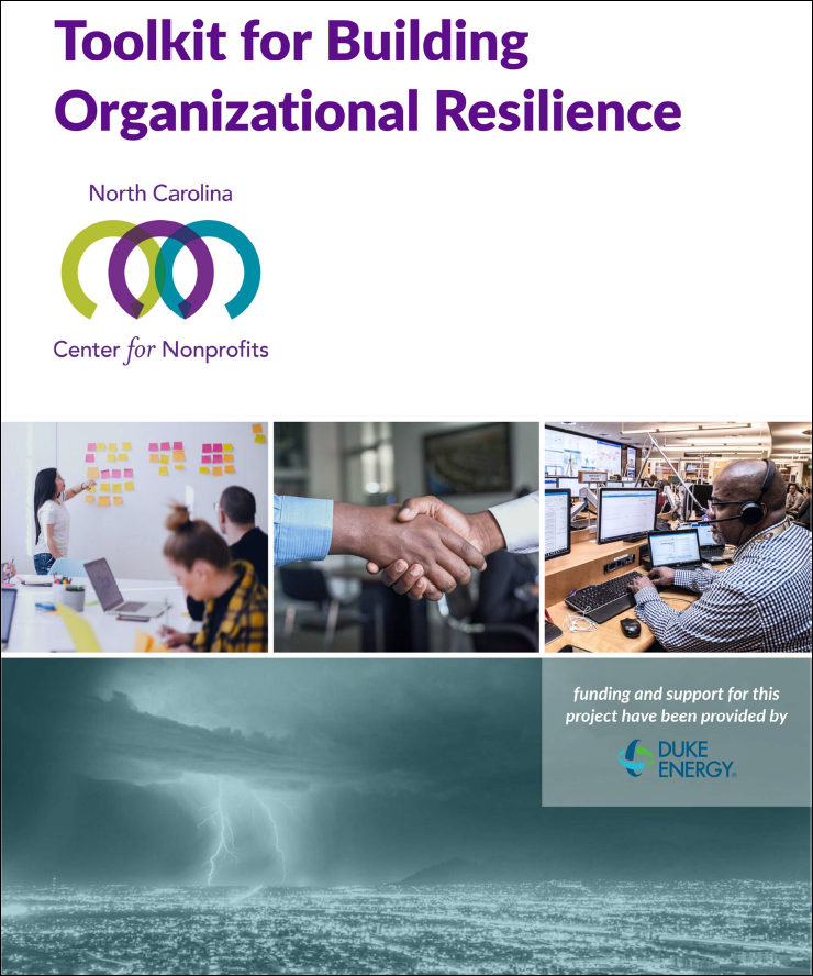 Display cover of Resilience publication